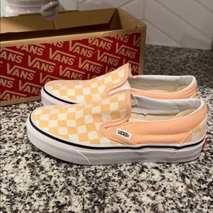 Women's Classic Slip On Checkerboard bleached